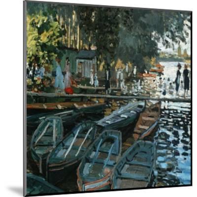 La Grenouillère-Pierre-Auguste Renoir-Mounted Art Print