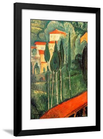 Landscape Southern France-Amedeo Modigliani-Framed Art Print