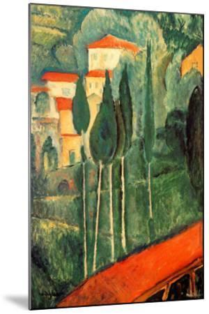 Landscape Southern France-Amedeo Modigliani-Mounted Art Print