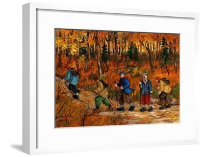 Les randonneurs-Nicole Laporte-Framed Art Print