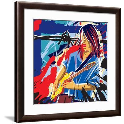 Bloody Blues- Ray Lengele-Framed Art Print