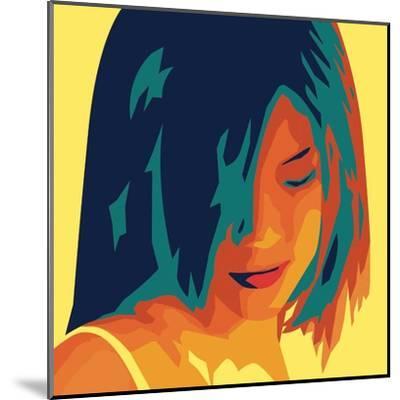 The Girl from Okinawa (yellow)-Javier Palacios-Mounted Art Print