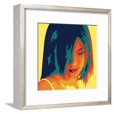 The Girl from Okinawa (yellow)-Javier Palacios-Framed Art Print