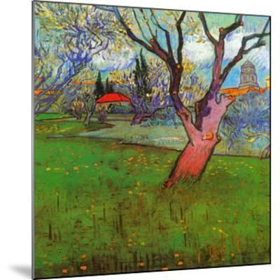 Vue d'Arles avec arbres en fleurs (Détail)-Vincent van Gogh-Mounted Art Print
