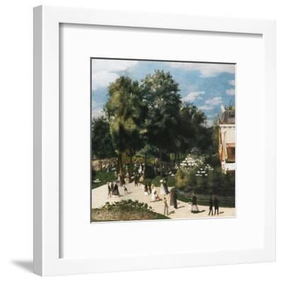 Ballade au parc-Pierre-Auguste Renoir-Framed Art Print