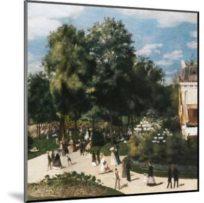 Ballade au parc-Pierre-Auguste Renoir-Mounted Art Print
