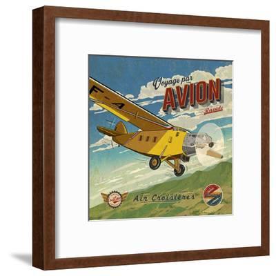 Voyage par avion-Bruno Pozzo-Framed Art Print