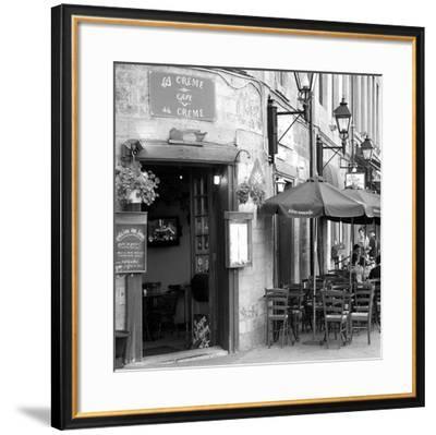Café crème de la crème-Carl Ellie-Framed Art Print