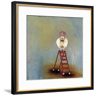 Royal Sheep on Ladder-Stacy Dynan-Framed Giclee Print