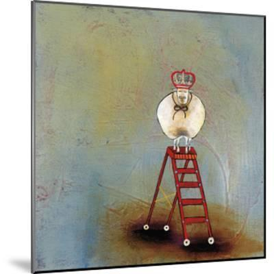 Royal Sheep on Ladder-Stacy Dynan-Mounted Giclee Print