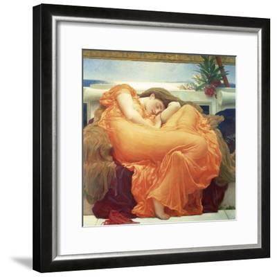 Flaming June-Lord Frederic Leighton-Framed Giclee Print