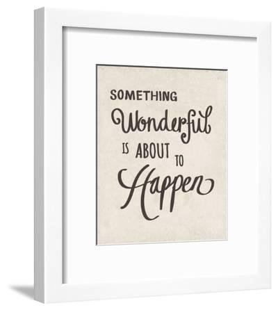 Something Wonderful-Clara Wells-Framed Art Print