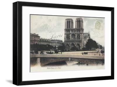 Notre-Dame et le Pont-Stephanie Monahan-Framed Giclee Print