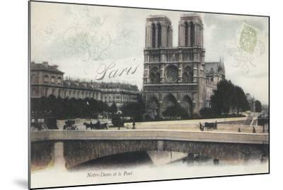 Notre-Dame et le Pont-Stephanie Monahan-Mounted Giclee Print