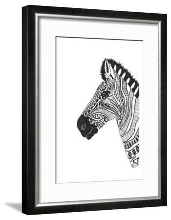 Lone Zebra-Pam Varacek-Framed Art Print