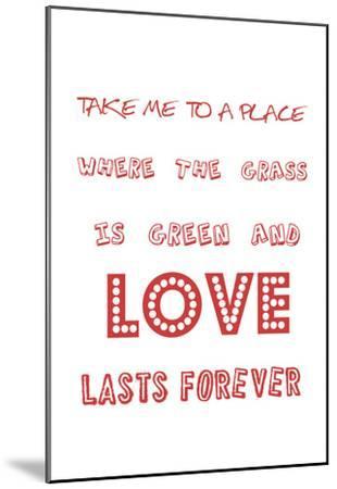 For Love's Sake-Sheldon Lewis-Mounted Art Print