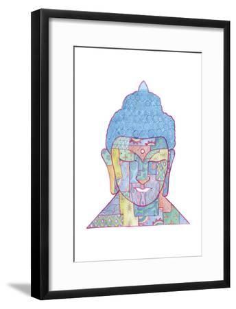 The Mosaic Buddha-Pam Varacek-Framed Art Print