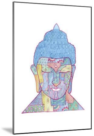 The Mosaic Buddha-Pam Varacek-Mounted Art Print