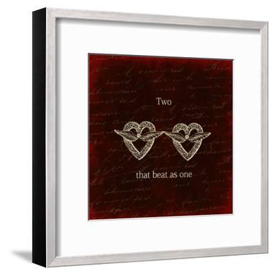 Two Hearts-Sheldon Lewis-Framed Art Print