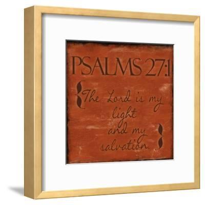 Psalms 27-1-Taylor Greene-Framed Art Print