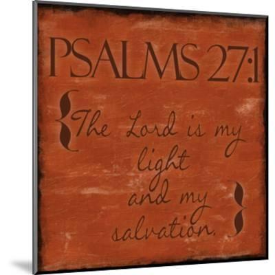 Psalms 27-1-Taylor Greene-Mounted Art Print