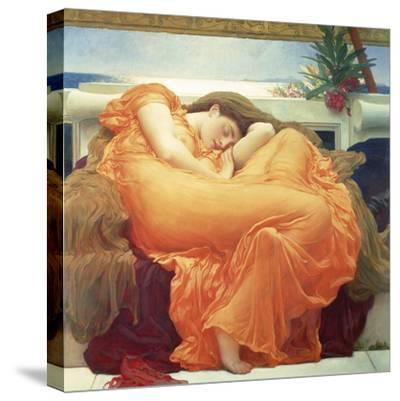 Flaming June-Lord Frederic Leighton-Stretched Canvas Print