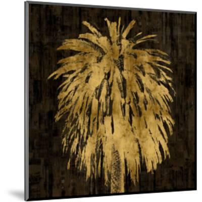 Palms In Gold I-Kate Bennett-Mounted Giclee Print