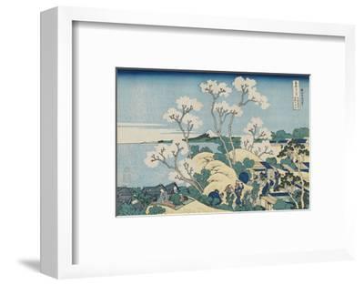Fuji from Goten-yama, at Shinagawa on the Tôkaidô-Katsushika Hokusai-Framed Art Print