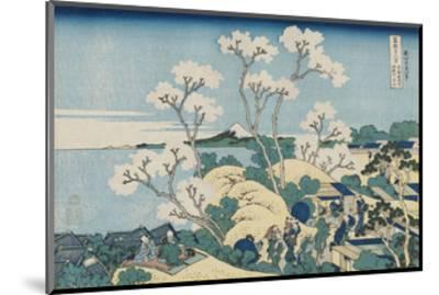Fuji from Goten-yama, at Shinagawa on the Tôkaidô-Katsushika Hokusai-Mounted Art Print