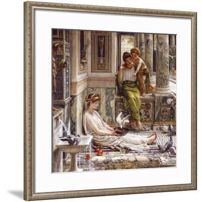 Corner of the Villa-Sir Edward John Poynter-Framed Premium Giclee Print