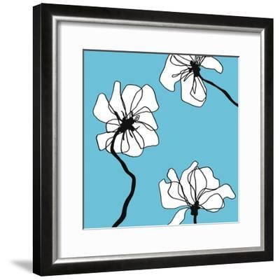 Flowers in Blue 2-Mette Loeber-Framed Art Print