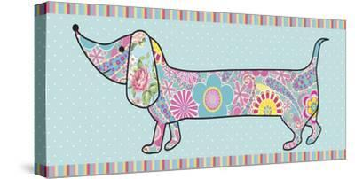 Paisley Pooch II-Linda Wood-Stretched Canvas Print