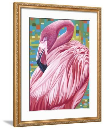Fabulous Flamingos II-Carolee Vitaletti-Framed Art Print
