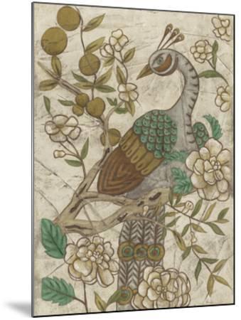 Chinoiserie Pheasant II-Chariklia Zarris-Mounted Giclee Print