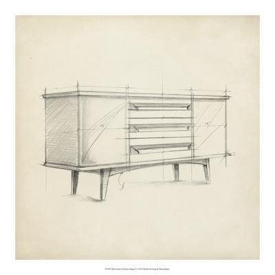 Mid Century Furniture Design V-Ethan Harper-Framed Giclee Print