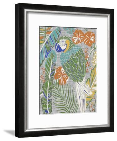Tropical Macaw-Chariklia Zarris-Framed Art Print