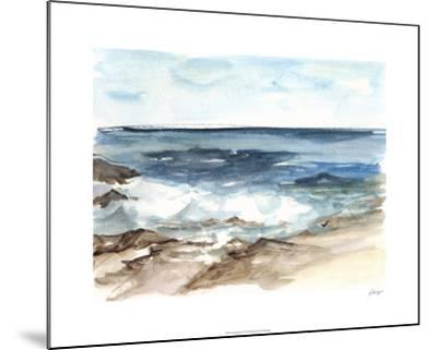 Coastal Watercolor V-Ethan Harper-Mounted Limited Edition