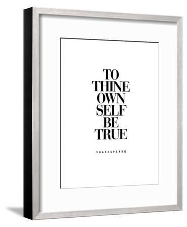To Thine Own Self Be True-Brett Wilson-Framed Art Print