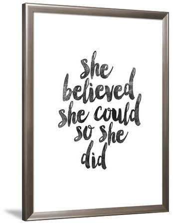 She Believed She Could So She Did Stretched Canvas Print By Brett