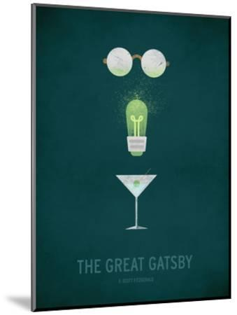 The Great Gatsby Minimal-Christian Jackson-Mounted Art Print