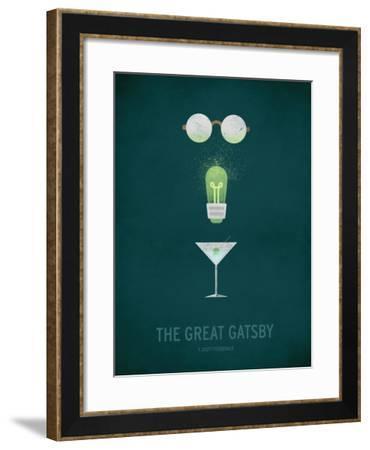The Great Gatsby Minimal-Christian Jackson-Framed Art Print