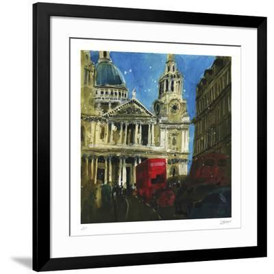 Today and Yesterday St. Paul's, London-Susan Brown-Framed Collectable Print