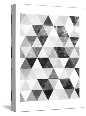 Polygon Pattern-Brett Wilson-Stretched Canvas Print