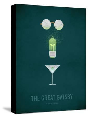 The Great Gatsby Minimal-Christian Jackson-Stretched Canvas Print