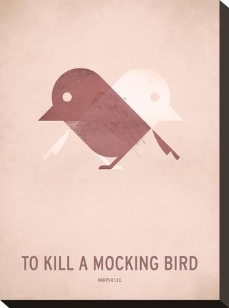 To Kill a Mocking Bird_Minimal-Christian Jackson-Stretched Canvas Print