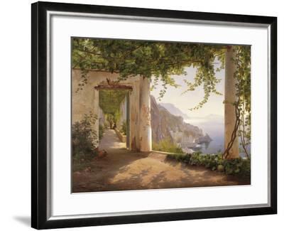 Amalfi Dia Cappuccini-Carl Frederic Aagaard-Framed Giclee Print