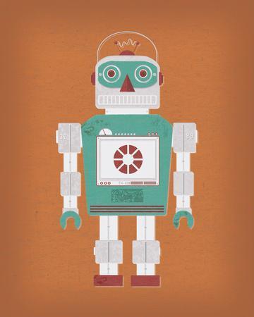 Robotik III-Tom Frazier-Framed Giclee Print