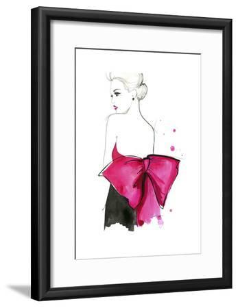 Pink Bow-Jessica Durrant-Framed Art Print