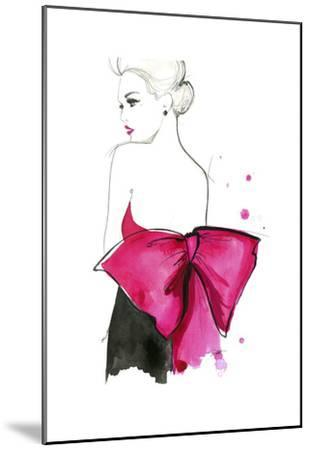 Pink Bow-Jessica Durrant-Mounted Art Print