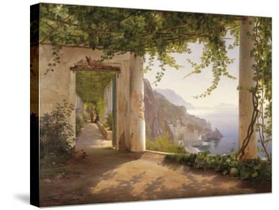 Amalfi Dia Cappuccini-Carl Frederic Aagaard-Stretched Canvas Print